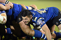 Rhys Davies of Bath United in action at a scrum. Premiership Rugby Shield match, between Bath United and Gloucester United on April 8, 2019 at the Recreation Ground in Bath, England. Photo by: Patrick Khachfe / Onside Images