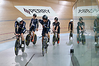NZ team during training, Avantidrome, Home of Cycling, Cambridge, New Zealand, Friday, March 17, 2017. Mandatory Credit: © Dianne Manson/CyclingNZ  **NO ARCHIVING**