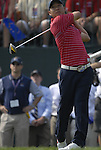 USA Team player Anthony Kim drives off in the opening match on the 1st tee during the Singles on the Final Day of the Ryder Cup at Valhalla Golf Club, Louisville, Kentucky, USA, 21st September 2008 (Photo by Eoin Clarke/GOLFFILE)