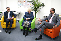 05/02/2020 - Camilla Duchess of Cornwall alongside chair of trustees John Bartlett (left) and chief executive Javed Khan during a visit to Barnardo's Child and Sexual Abuse and Exploitation Services in north London. Photo Credit: ALPR/AdMedia