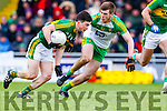 Paul Murphy, Kerry, in action against Eoghan Gallagher, Donegal, in the national Football League, Division 1, Round 4, at Austin Stack Park, Tralee on Sunday.