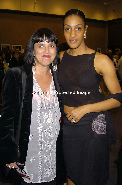 Eve Ensler and Sarah Jones ..at a Photography Auction to Benefit Equality Now on June 20, 2005 at Christies. ..Photo By Robin Platzer, Twin Images