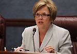 Nevada Sen. Shirley Breeden, D-Henderson, speaks in committee on Wednesday, April 13, 2011, at the Legislature in Carson City, Nev. .Photo by Cathleen Allison
