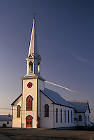 church, Gaspe Peninsula, Quebec, Canada, St. Lawrence River, Church in the town of Saint-Maurice-de-L'Echouerie on the Gaspe Peninsula on the Gulf of St. Lawrence in Quebec.
