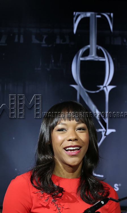 Nikki M. James during the American Theatre Wing's 70th Annual Tony Awards Nominations at Diamond Horseshoe at the Paramount Hotel on May 3, 2016 in New York City.