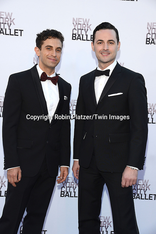 Brandon Uranowitz and Max Von Essen  attends the New York City Ballet's 3rd Annual  Fall Fashion Gala on September 23, 2014 at David Koch Theatre in Lincoln Center in New York City. <br /> <br /> photo by Robin Platzer/Twin Images<br />  <br /> phone number 212-935-0770