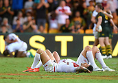 2nd December 2017, Brisbane, Australia;  Rugby League World Cup - England versus Australia - Land Park, Brisbane, Australia. England players react after losing to Australia in the final.