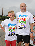 John and Rosemary Levins who took part in Tiarnan's fun run at Hunterstown GFC. Photo: Colin Bell/pressphotos.ie
