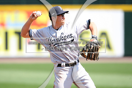 April 26, 2009:  Shortstop Doug Bernier (2) of the Scranton Wilkes-Barre Yankees, International League Class-AAA affiliate of the New York Yankees, during a game at the Frontier Field in Rochester, NY.  Photo by:  Mike Janes/Four Seam Images