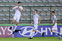 01th November 2019; Bezerrao Stadium, Brasilia, Distrito Federal, Brazil; FIFA U-17 World Cup Brazil 2019, Canada versus New Zealand; Mattew Garbett of New Zealand celebrates his goal in the 27th minute for 0-1 - Editorial Use