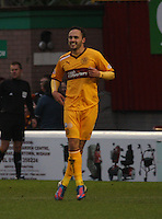 Tom Hateley after scoring in the Motherwell v Aberdeen, Clydesdale Bank Scottish Premier League match at Fir Park, Motherwell on 26.12.12.