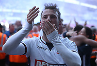 Bolton Wanderers Adam Le' fondre celebrates at the end of todays match<br /> <br /> Photographer Rachel Holborn/CameraSport<br /> <br /> The EFL Sky Bet Championship - Bolton Wanderers v Nottingham Forest - Sunday 6th May 2018 - Macron Stadium - Bolton<br /> <br /> World Copyright &copy; 2018 CameraSport. All rights reserved. 43 Linden Ave. Countesthorpe. Leicester. England. LE8 5PG - Tel: +44 (0) 116 277 4147 - admin@camerasport.com - www.camerasport.com