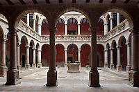 Patio, Royal Schools, 16th century, Tortosa, Tarragona, Spain. Founded by Charles V for the purpose of educating the Moors, they are some of the best examples of Renaissance civil architecture in Catalonia. Picture by Manuel Cohen