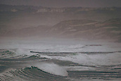 3rd January 2018,  Baleal, Peniche Portugal - Waves during a storm in Praia Baleal by January 3rd , before the upcoming Nazare big-wave surfing event which will have giant wave runs