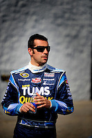 Apr 25, 2008; Talladega, AL, USA; NASCAR Sprint Cup Series driver Dario Franchitti during practice for the Aarons 499 at Talladega Superspeedway. Mandatory Credit: Mark J. Rebilas-US PRESSWIRE
