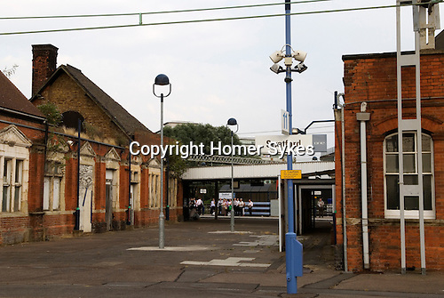 Stratford train station. East London, before re-development for the 2012 Olympic Games Stratford, England 2006.