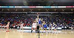 SIOUX FALLS, SD - MARCH 10: The South Dakota State Jackrabbits jump the opening tip against the South Dakota Coyotes during the women's championship game at the 2020 Summit League Basketball Tournament in Sioux Falls, SD. (Photo by Dave Eggen/Inertia)