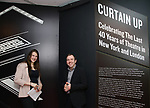 Leah Lane and Leah Lane and curator Doug Reside at Curtain Up: Celebrating the Last 40 Years of Theatre in New York and London Exhibition on June 14, 2017 at the New York Public Library for the Performing Arts at Lincoln Center.