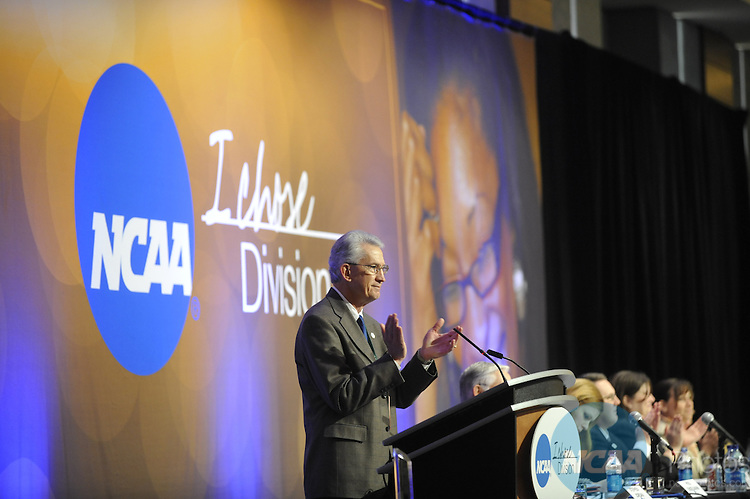 14 JAN 2010: The Division II Business Session at the 2010 NCAA Convention held at the Marriott Marquis and the Hyatt Regency in Atlanta, GA. Stephen Nowland/NCAA Photos.Pictured:Stephen Jordan.t