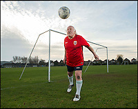 BNPS.co.uk (01202 558833)<br /> Pic: TomWren/BNPS<br /> <br /> Solid at the back...<br /> <br /> An 81-year-old man believed to be 'Britain's oldest footballer' has today made an appeal for a club to come and get him after failing to find a team to play for. <br /> <br /> Sprightly Dickie Borthwick had played every season since the 1940s but has now been sidelined due to a worrying lack of interest in veteran football. <br /> <br /> The left midfielder says despite dwindling opportunities for older players he isn't hanging up his boots just yet. <br /> <br /> Dickie, who thinks he has scored aout 400 goals and has never been booked in a 1,600 match career, would like to play once every two weeks.