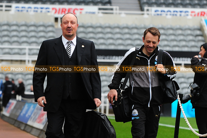 Newcastle United manager Rafa Benítez arrives at St James' Park  during Newcastle United vs Barnsley, Sky Bet EFL Championship Football at St. James' Park on 7th May 2017