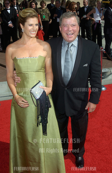 Actor WILLIAM SHATNER & wife ELIZABETH at the 2004 Primetime Creative Arts Emmy Awards at the Shrine Auditorium, Los Angeles..September 12, 2004