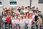 HAPPY DAYS: Mary Murphy who retired as principle of Foilmore National School on Friday last after 36 in the South Kerry School pictured with her students at a function at the school on Friday..