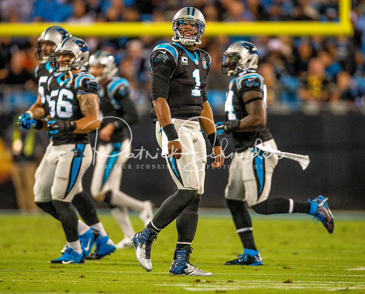 Sports action photography of the Carolina Panthers against the New Orleans Saints during their NFL game at Bank of America Stadium in Charlotte, North Carolina.  <br /> <br /> Charlotte Photographer - Patrick SchneiderPhoto.com