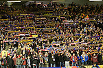 24.02.2011 Europa League Football from Anfield Liverpool v Sparta Prague. Sparta fans show their scarves as their team take the field before the game.