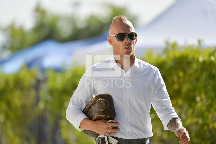 San Jose, CA - Saturday August 18, 2018: Magnus Eriksson during a Major League Soccer (MLS) match between the San Jose Earthquakes and Toronto FC at Avaya Stadium.