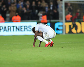 4th November 2017, Liberty Stadium, Swansea, Wales; EPL Premier League football, Swansea City versus Brighton and Hove Albion; A dejected Tammy Abraham of Swansea City at the end of the game