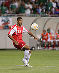 21 June 2007:  Guadeloupe's David Fleurival. The National Team of Mexico defeated Guadeloupe 1-0  in a CONCACAF Gold Cup Semifinal match at Soldier Field in Chicago, Illinois.