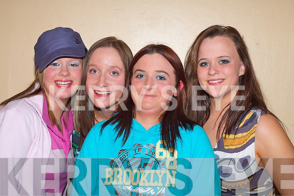 Pupils from Killarney Community College who modeled at the Passion for Fashion show in aid of Kerry Cystic Fibrosis in Killarney Outlet Centre on Thursday evening l-r: Caroline McCarthy, Rebecca Nagle, Katie Dineen and Amanda McSweeney   Copyright Kerry's Eye 2008