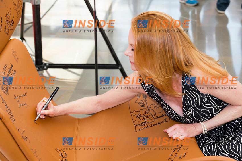 Marg HELGENBERGER, Crytal Nymph<br /> <br /> Monaco Montecarlo 14-06-2016 <br /> 56th Monaco TV Festival - Photocall Opening Ceremony <br /> Foto Nicolas Gavet Panoramic / Insidefoto