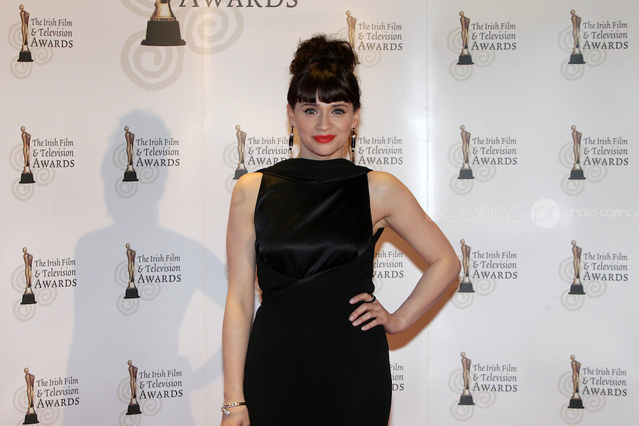12/2/11 Raw's Charlene McKenna on the red carpet at the 8th Irish Film and Television Awards at the Convention centre in Dublin. Picture:Arthur Carron/Collins