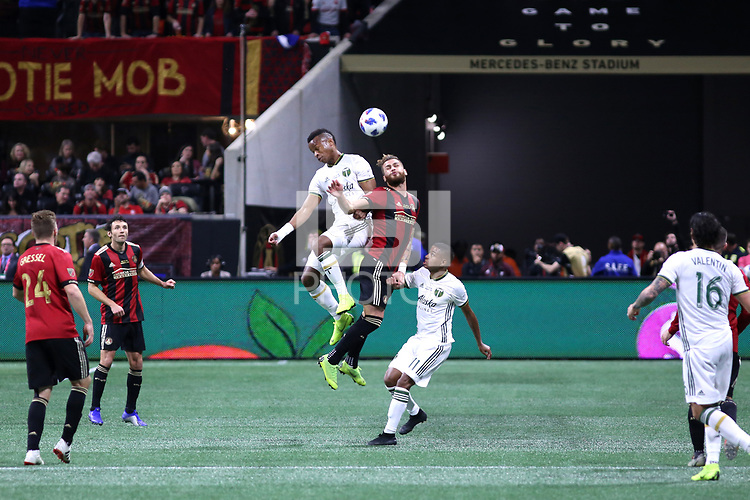 Atlanta, Georgia - Saturday December 08, 2018: Portland Timbers at Atlanta United FC at Mercedes Benz Stadium in MLS Cup 2018.