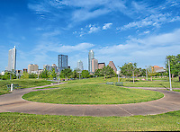 This is a great spot to capture the Austin skyline from the Dough Sahm observation hill in Butler Park or while strolling around the park you can see the high-rise buildings along town lake from the park and enjoy seeing the city in the background from the park.