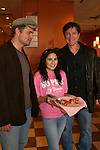 "Guiding Light's Daniel Cosgrove ""Billy Lewis"" and Frank Dicopoulos ""Frank Cooper"" with the Panera Bread  Pink Ribbon Bagels as they donated thier time for Young Women's Breast Cancer Awareness Foundation by going to Pittsburgh, PA on October 7, 2008 and went Pink with Panera. They visited three of 27 Panera Bread locations during the day where 100% of sales from their Pink Ribbon bagels went to the foundation and a portion of those sales all during the month of October. For more information go to www.breastcancerbenefit.org. The day started out with Star 100.7 and the hosts Kate and JR interviewed Frank Dicopoulos. The two actors then went to the CBS studio in Pittsburgh in the morning. The day was a great hit. (Photo by Sue Coflin/Max Photos)"