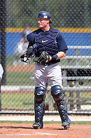 New York Yankees minor league player catcher Nick McCoy #2 during a game vs the Toronto Blue Jays at the Englebert Minor League Complex in Dunedin, Florida;  March 21, 2011.  Photo By Mike Janes/Four Seam Images