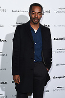LONDON, UK. October 16, 2019: Aki Omoshaybi arriving for the Esquire Townhouse 2019 launch party, London.<br /> Picture: Steve Vas/Featureflash