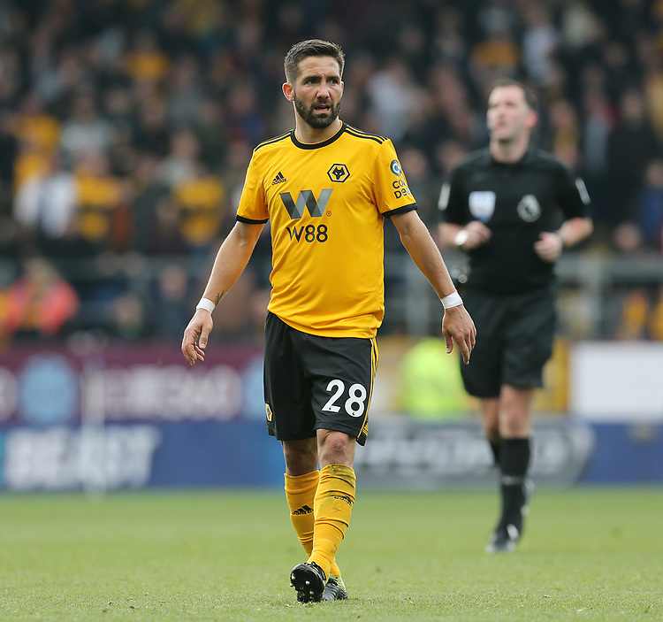 Wolverhampton Wanderers' Joao Moutinho<br /> <br /> Photographer Rich Linley/CameraSport<br /> <br /> The Premier League - Burnley v Wolverhampton Wanderers - Saturday 30th March 2019 - Turf Moor - Burnley<br /> <br /> World Copyright © 2019 CameraSport. All rights reserved. 43 Linden Ave. Countesthorpe. Leicester. England. LE8 5PG - Tel: +44 (0) 116 277 4147 - admin@camerasport.com - www.camerasport.com