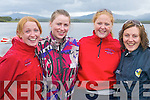 MEMBERS: Workmens Rowing Club members Alison Looney,.Helen Murphy, Diane Leen and Samantha Williams at the Killarney.Regatta at OMahonys Point last Sunday.