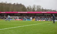 The Stadium join in a minutes applause on 5 minutes for former Wycombe player Paul McCarthy who recently passed away during the Sky Bet League 2 match between Wycombe Wanderers and Crawley Town at Adams Park, High Wycombe, England on 25 February 2017. Photo by Andy Rowland / PRiME Media Images.