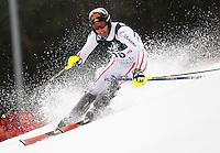 ZAGREB, CROACIA, 06 JANEIRO 2013 - COPA DO MUNDO DE ESQUI ALPINO - O competidor Mario Matt da Austria durante a competicao de Slalom Gigante para homens durante a Copa do Mundo de Esqui Alpino em Zagreb na Croacia, neste domingo, 06/01/2013. (FOTO: PIXATHLON / BRAZIL PHOTO PRESS).