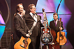 September 26, 2013. Raleigh, North Carolina.<br />  After being inducted the International Bluegrass Music Hall of Fame, Tony Rice, left, played a short set, and was then celebrated by lap steel great Jerry Douglas.<br />  Bluegrass guitar legend Tony Rice was inducted into the International Bluegrass Music Hall of Fame during the International Bluegrass Music Awards, held in Memorial Hall at the Duke Energy Center for the Performing Arts.
