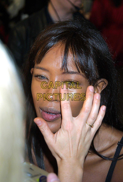 NAOMI CAMPBELL..Backstage at Victoria's Secret Fashion Show..bad skin, puffy eyes, no makeup, headshot, portrait..www.capitalpictures.com..sales@capitalpictures.com..©Capital Pictures