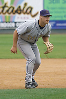 August 7, 2007: Darin Holcomb of the Tri-City Dust Devils playing third base against the Everett AquaSox in a Northwest League game at Everett Memorial Stadium in Everett, Washington.