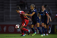 Boyds, MD - Wednesday August 30, 2017: Mallory Pugh, Jaelene Hinkle during a regular season National Women's Soccer League (NWSL) match between the Washington Spirit and the North Carolina Courage at Maureen Hendricks Field, Maryland SoccerPlex.