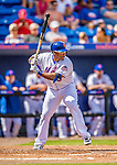 23 February 2013: New York Mets' outfielder Marlon Byrd in action during a Spring Training Game against the Washington Nationals at Tradition Field in Port St. Lucie, Florida. The Mets defeated the Nationals 5-3 in their Grapefruit League Opening Day game. Mandatory Credit: Ed Wolfstein Photo *** RAW (NEF) Image File Available ***