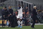Duvan Zapata of Atalanta salutes the fans as he is substituted for Ruslan Malinovskyi during the Serie A match at Giuseppe Meazza, Milan. Picture date: 11th January 2020. Picture credit should read: Jonathan Moscrop/Sportimage